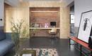 80 кв. М квартиры с мягкими и теплыми тонами двухцветных стен