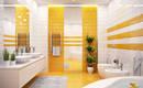 Счастливый цвет в ванной: 25 солнечных вариантов